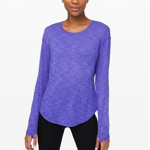 Lululemon 8 Lost In Pace LS Heathered Lazurite